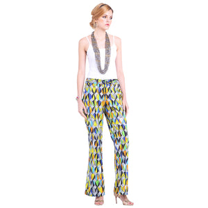 Bold African Print Boot Cut Trousers