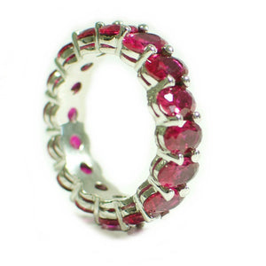 Eternity Stackable Band Sterling Silver Ruby 9.60 ct