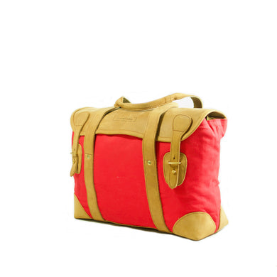 Leather and Canvas Weekend Bag (Medium)
