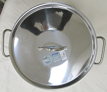 Top view of Lid and Handles of Sitram 19.8 Quart half stockpot