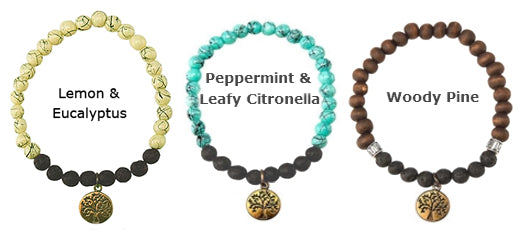 The other 3 styles of the Mother Nature Aroma Diffuser Bracelets