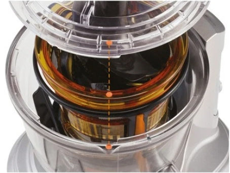 interior of Breville Big Squeeze mixing bowl amenable to Quick Rinse Technology