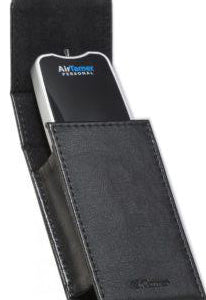 AirTamer partially inserted in travel case