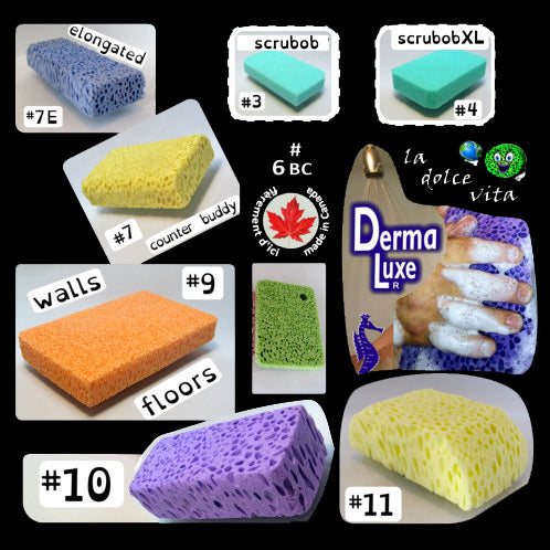 8 kinds of BioBob sponges