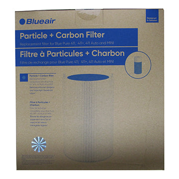 New packaging for Blue Pure 411 particle + carbon filter