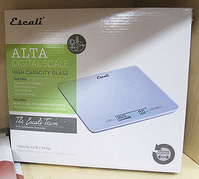 Alta High Capacity Glass Digital Scale on diplay in box