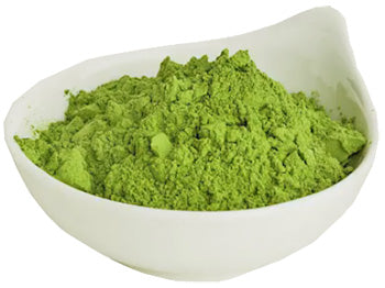 A quantity of loose dried Nia Moringa Powder in a bowl