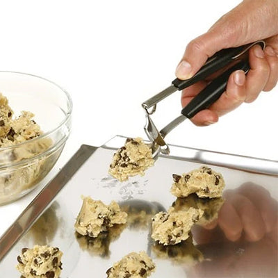 Norpro Cookie Dropper in use