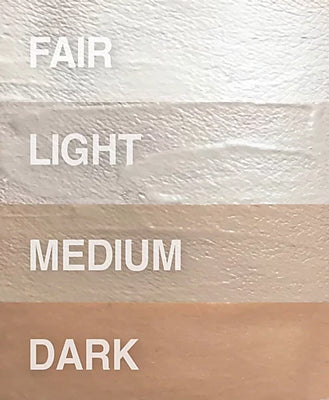 Swatch of the four shades Unika BB Cream comes in