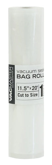 a single roll of 11.5 inch wide by 20 feet long Full Mesh Vacuum Seal material for Storage Bags