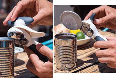 Zyliss Safety Can Opener in use