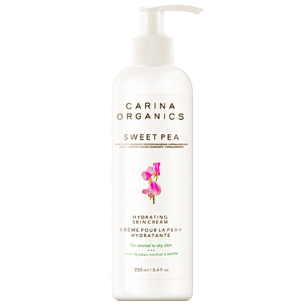 250ml Bottle of Carina Organics Sweet Pea Hydrating Skin Cream