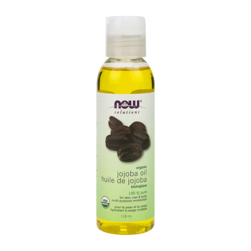 118ml Bottle of NOW Certified Organic Jojoba Oil