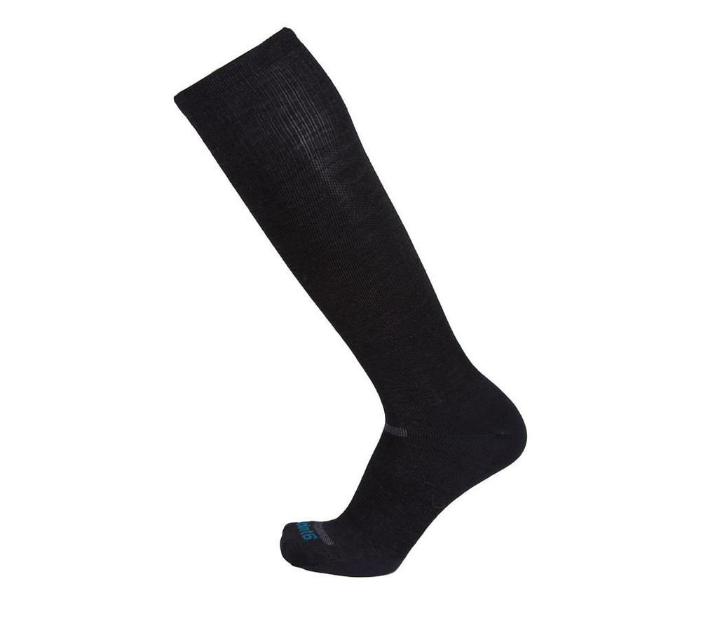 Point6 Ultra Light Over The Calf Compression Sock in Black