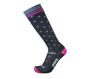 Ultra Light, OTC Compression Sock in Dot Pattern with Pink Accents