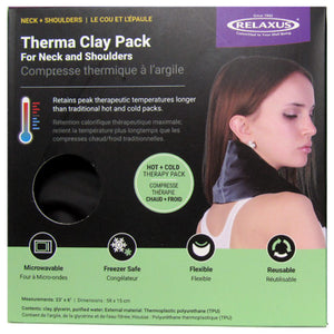 Front of 10-inch Wide Therma Clay Pack box