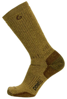 Point6 Boot Heavy Cushon Mid-Calf Sock in Coyote Brown