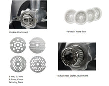 Additional components of Ankarsrum Mincer package