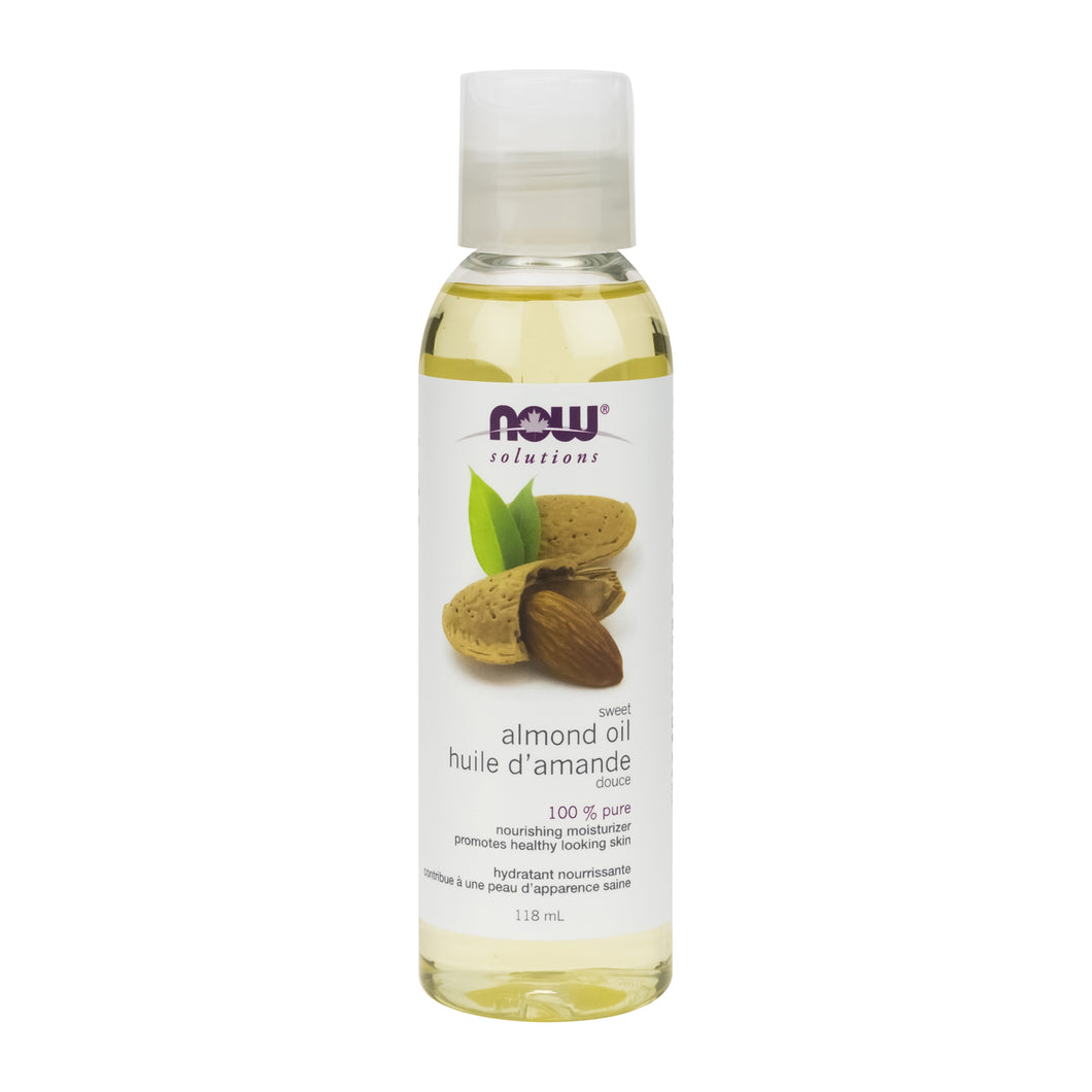 118 ml Bottle of NOW Almond Oil