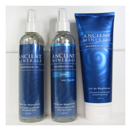 Three types of Ancient Minerals Topical Magnesium
