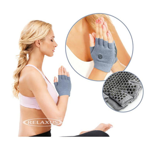 Anti-Slip Yoga Gloves in use