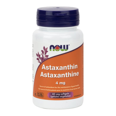 NOW Astaxanthin, 4mg Strength, 60 capsules