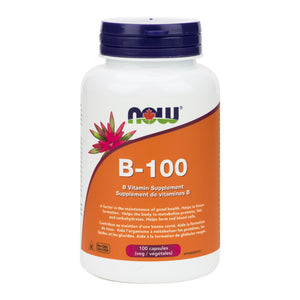 NOW B-100 Vitamin Blend, 100 capsules