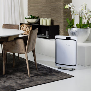 a Boneco P500 Air Purifier in a dining room