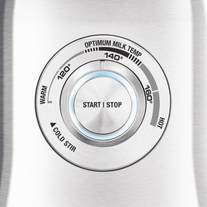 close-up of control knob for Breville Milk Cafe