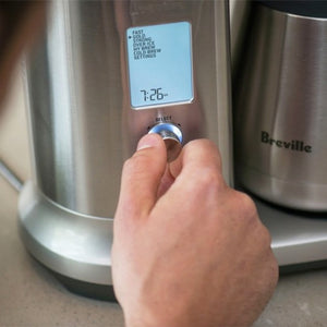 Close-up of Breville The Precision Brewer Thermal control panel