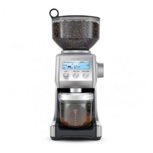 Breville The Smart Grinder in use with air-tight container