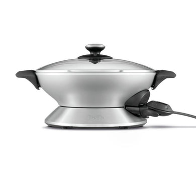 side view of The Breville Hot Wok