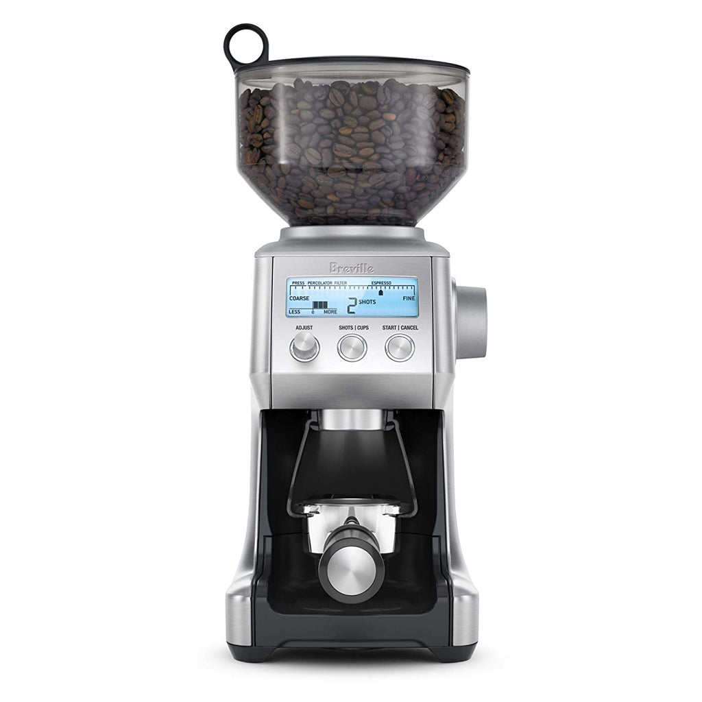 Breville The Smart Grinder in use with portafilter