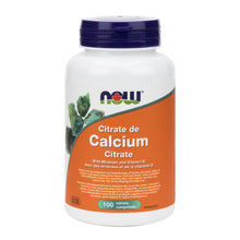 Load image into Gallery viewer, NOW Calcium Citrate (100 Tablets)