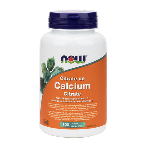 NOW Calcium Citrate (100 Tablets)
