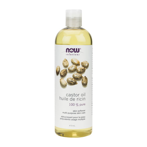 473 ml Bottle of NOW Castor Oil