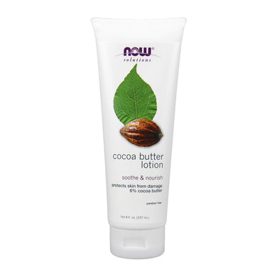 Tube of NOW Cocoa Butter Lotion