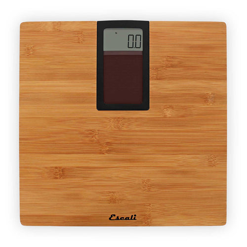 Escali Model Eco180 Digital Scale with Bamboo Platform, top view