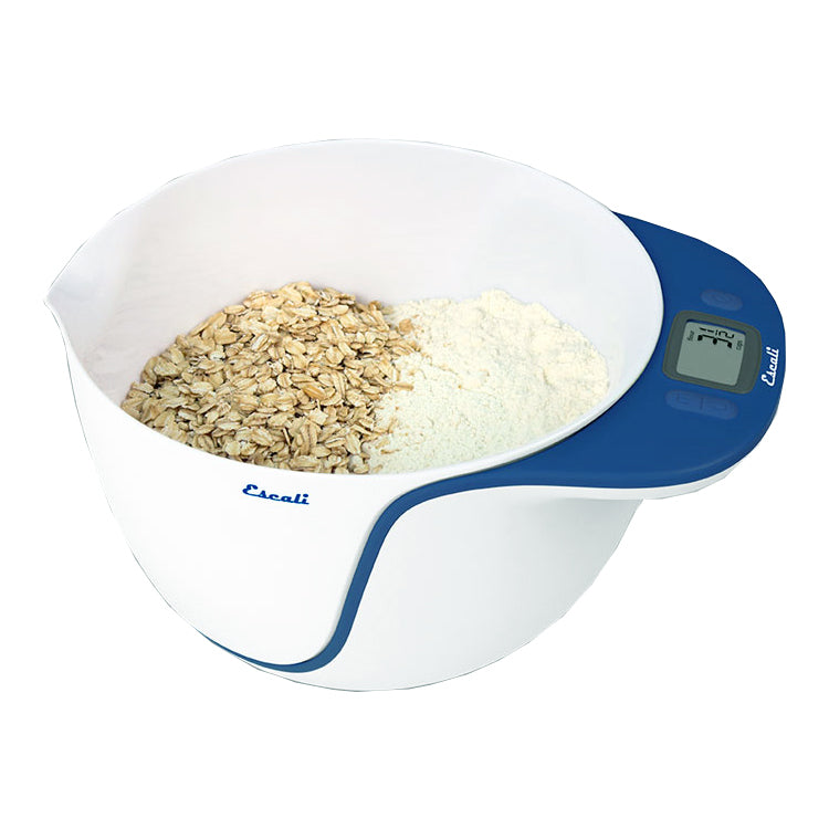 Escali Taso Mixing Bowl Scale, Berry Blue Trim