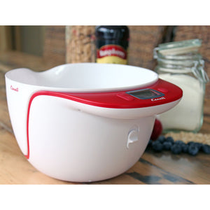 Escali Taso Mixing Bowl Scale on a table