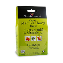 Load image into Gallery viewer, Wedderspoon Organic Manuka Honey Drops, with Eucalyptus & Bee Proplis