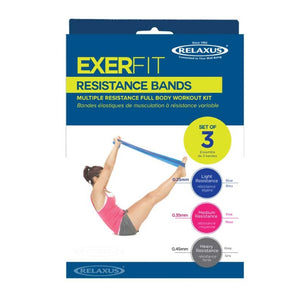 Relaxus Exerfit Resistance Bands box