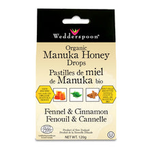 Load image into Gallery viewer, Wedderspoon Organic Manuka Honey Drops, with Fennel & Cinnamon