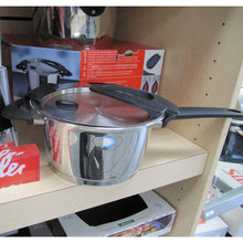 18cm diameter Fissler Intensa High Saucepan on display shelf