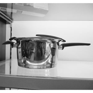 20cm diameter Fissler Intensa High Saucepan on display shelf