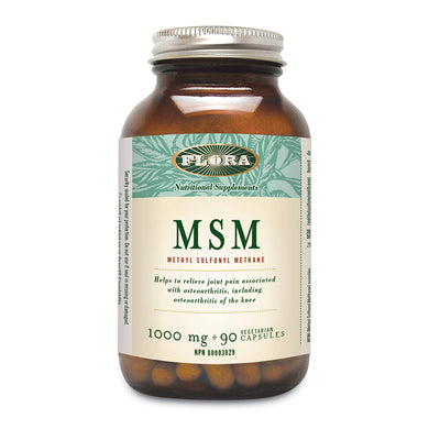 Flora MSM, 1000 mg Strength, 90 capsule bottle