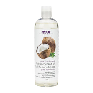473 ml Bottle of NOW Fractionated Liquid Coconut Oil