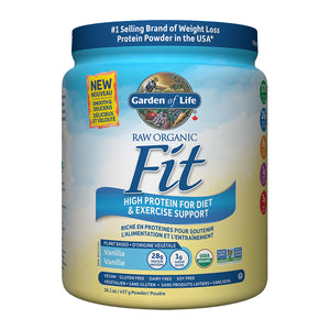 Garden of Life Raw Organic Fit High Protein Powder, Vanilla flavour