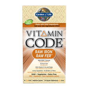 Garden of Life - Vitamin Code - Raw Iron