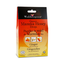 Load image into Gallery viewer, Wedderspoon Organic Manuka Honey Drops, with Ginger & Echinacea